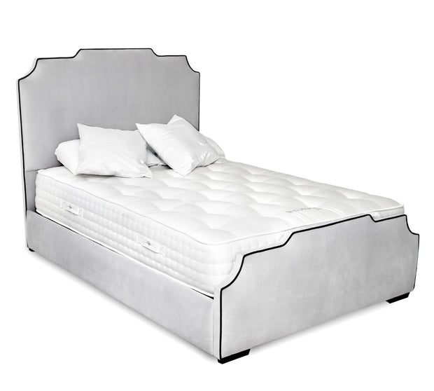 Louis Art Deco Upholstered Bed Frame