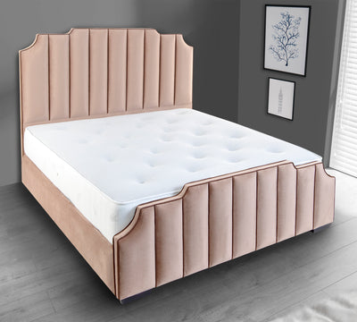 Lusso Art Deco Upholstered Bed Frame