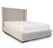 Winged Chesterfield Upholstered Bed Frame