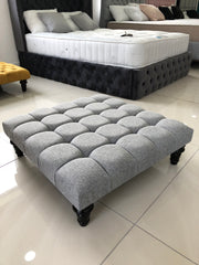 Cube Upholstered Footstool / Coffee Table