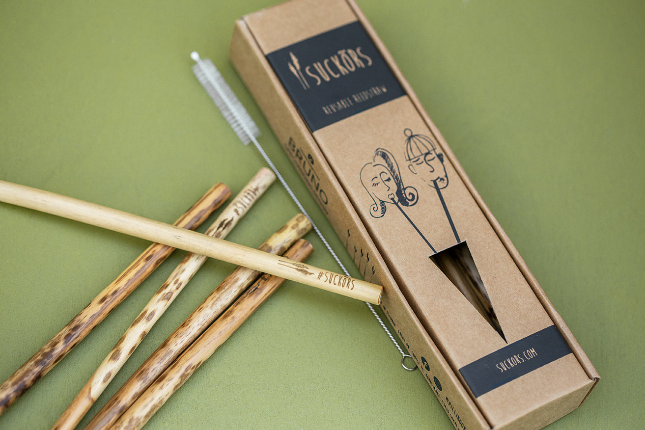 21CM Suckõrs 10pack (10 reed straws and cleaning brush)