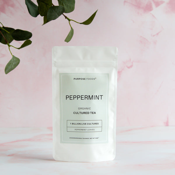 Peppermint - Organic Cultured Tea (20 Tea Bags)