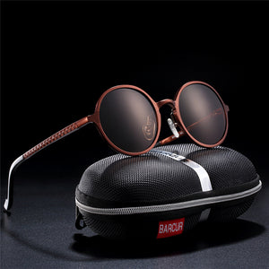 0018 - Hot black goggle male round sunglasses - Great Sunglasses