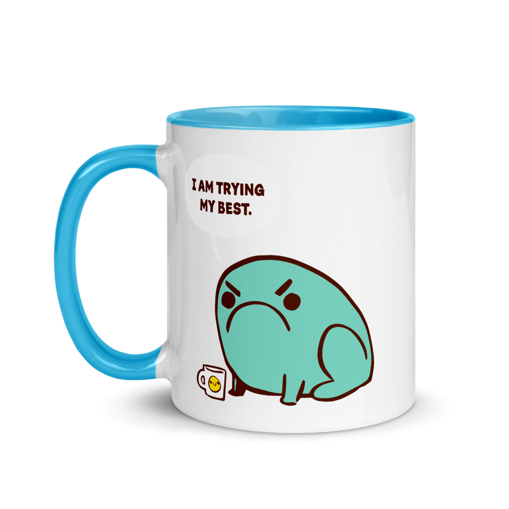 Mug Trying Their Best Toad (Colored Inside)