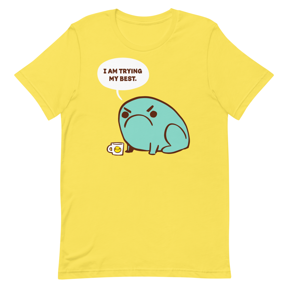 Basic T-Shirt Trying Their Best Toad
