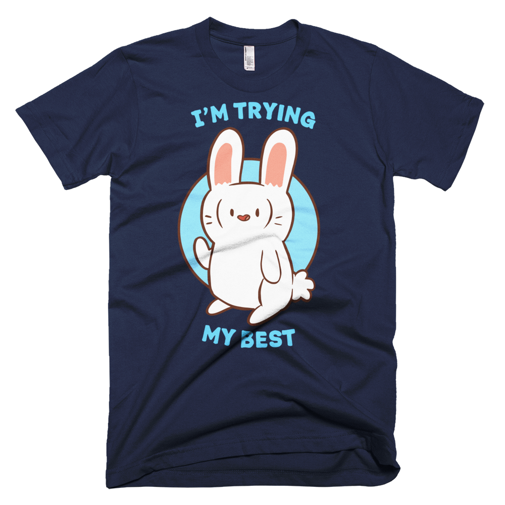 Fitted T-Shirt - Trying My Best