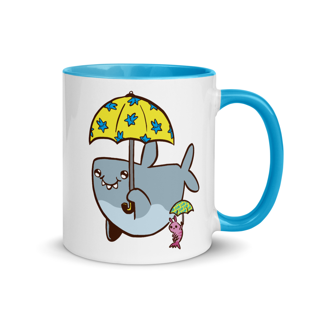 Mug Lub Shark Rainy Day Friends (Colored Inside)