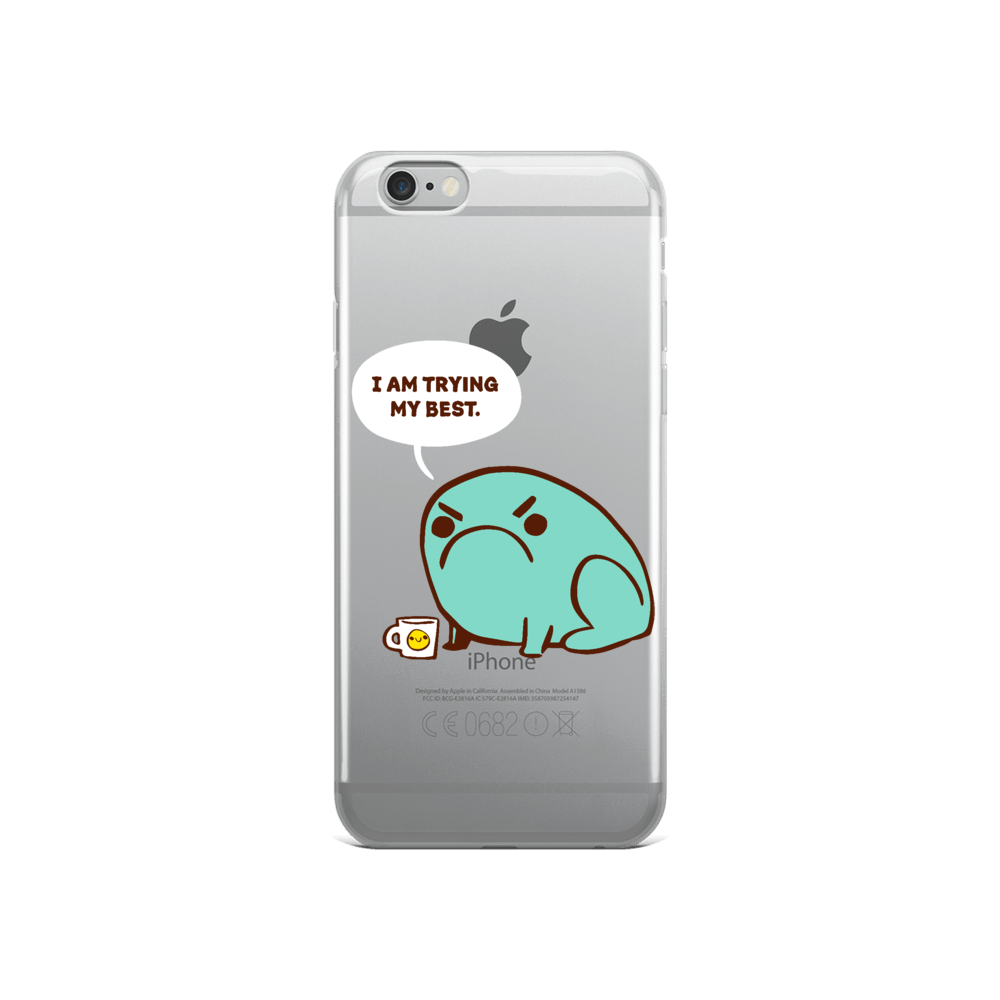 iPhone Case Trying Their Best Toad