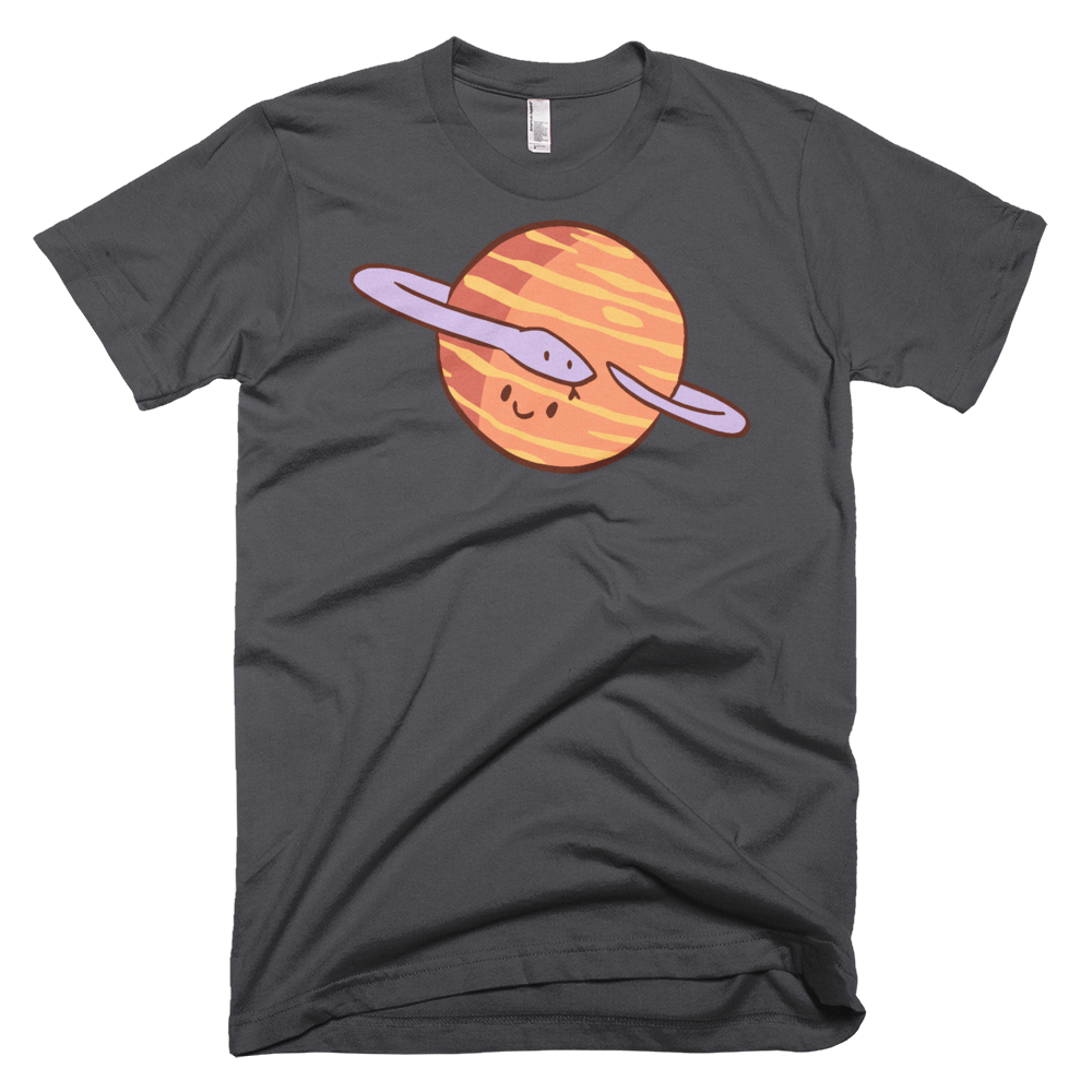 Fitted Tshirt Snake Planet
