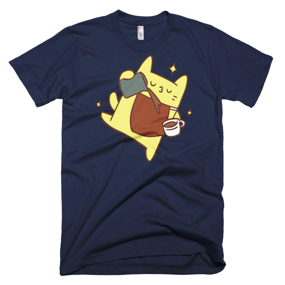 Fitted Tshirt Cat Pour