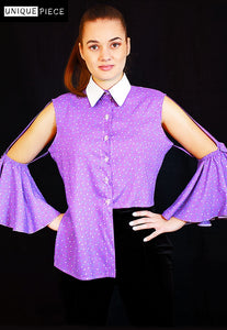Controverse Purple Shirt Crafted with Superior Cotton - Velmoft