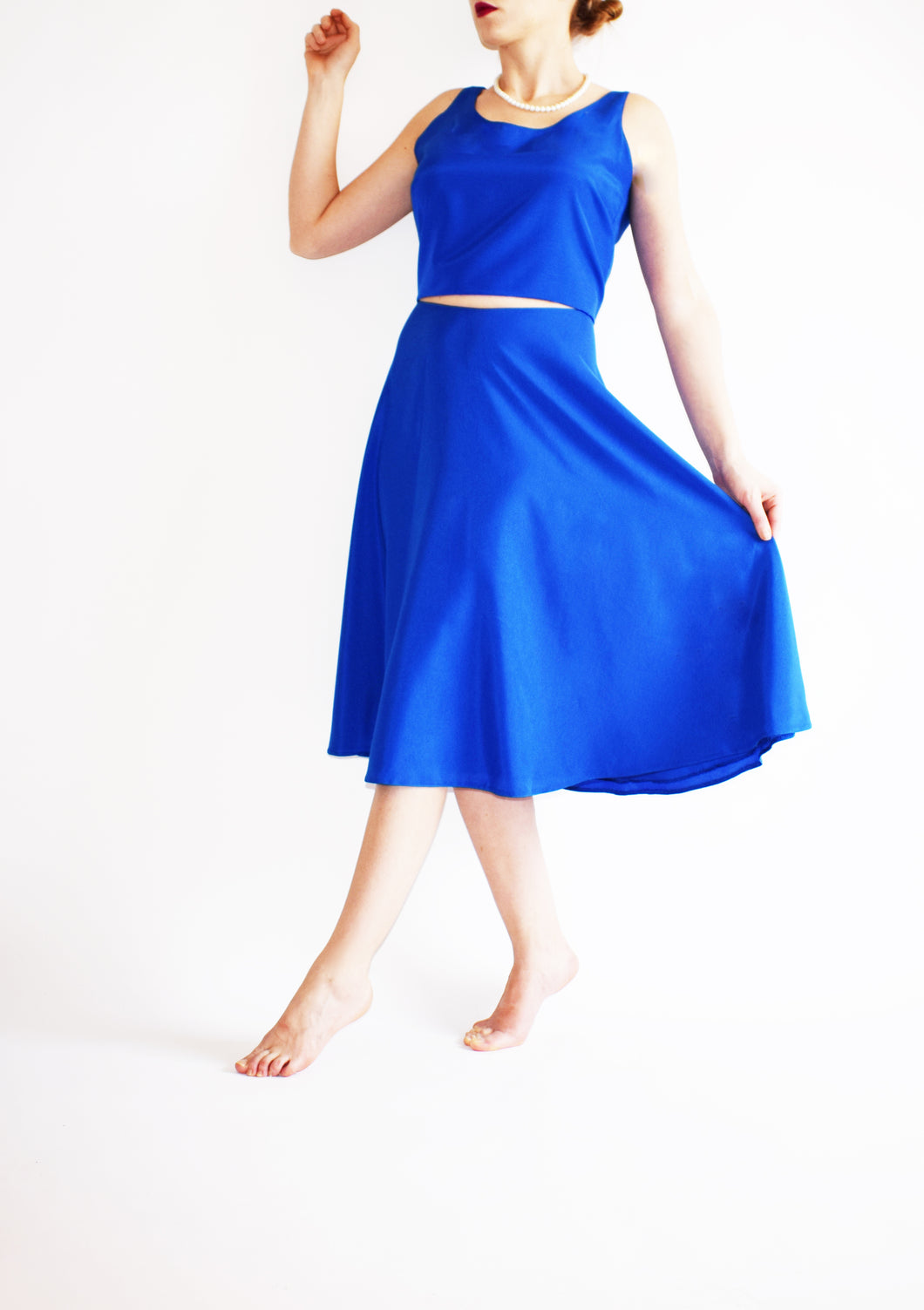 Anahi Royal Blue Skirt - Velmoft