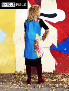 Controverse Hand-Painted Jacket Indian Girl - Velmoft
