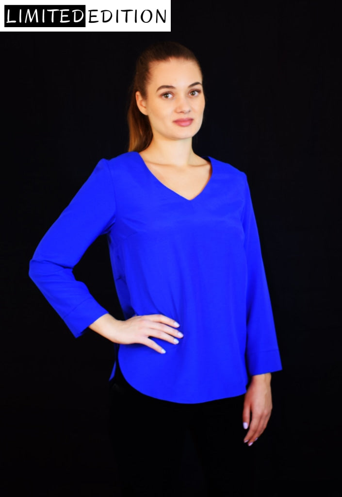 Electric Blue Shirt Crafted with Soft Fabric - Velmoft