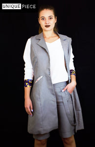 Gray Jacket Crafted with Superior Cotton - Velmoft