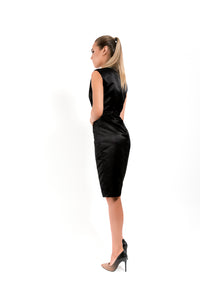Midi Black Dress - Velmoft