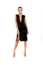 Load image into Gallery viewer, Midi Black Dress - Velmoft