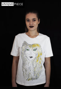 Wild Woman Crafted with Cotton and Hand Painted T-shirt - Velmoft