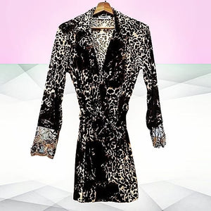 Animal Print Dressing Gown - Velmoft