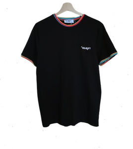 Men's Black T-shirt with embroidered logo - Velmoft