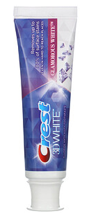 A tube of Crest 3D White toothpaste