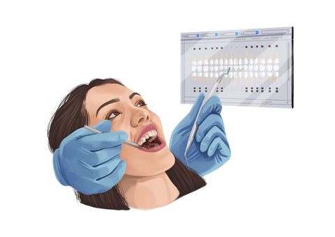 a woman visiting the dentist
