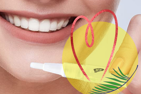 a beautiful smile and whitening pen