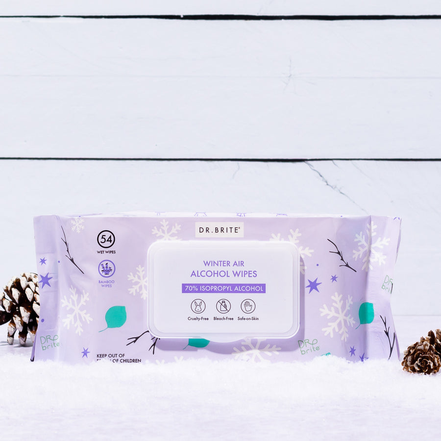 6 PACK - Winter Air Alcohol Wipes