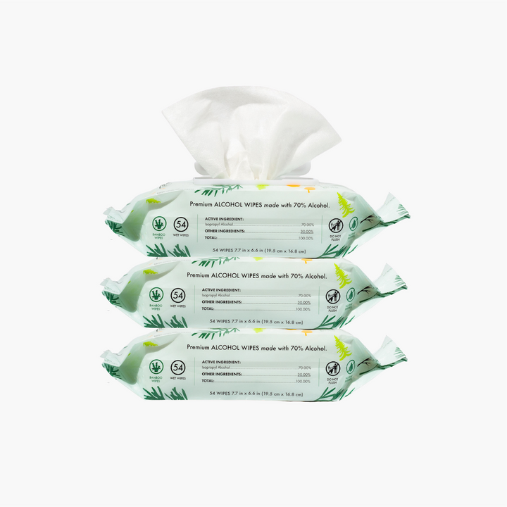 3 PACK - Balsam Pine Alcohol Wipes