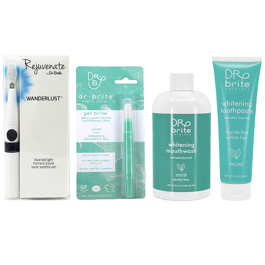 Carly Zuffinetti's Wanderlust Travel Sonic Toothbrush Bundle - includes Mint Toothpaste 5oz, Mint Mouthwash 8oz & Get Brite™ Teeth Whitening Pen