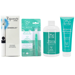 Michelle Reynolds's Wanderlust Travel Sonic Toothbrush Bundle - includes Mint Toothpaste 5oz, Mint Mouthwash 8oz & Get Brite™ Teeth Whitening Pen
