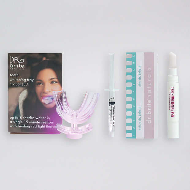 DUAL LED TEETH WHITENING KIT - STARTER PACKAGE