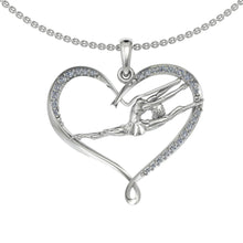 Load image into Gallery viewer, Silver Heart Pendant with gemstones