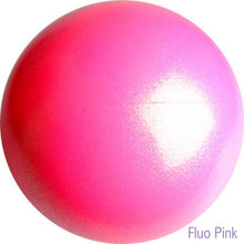 Load image into Gallery viewer, Gymnastics ball with glitter 16cm - Fluo Pink colour