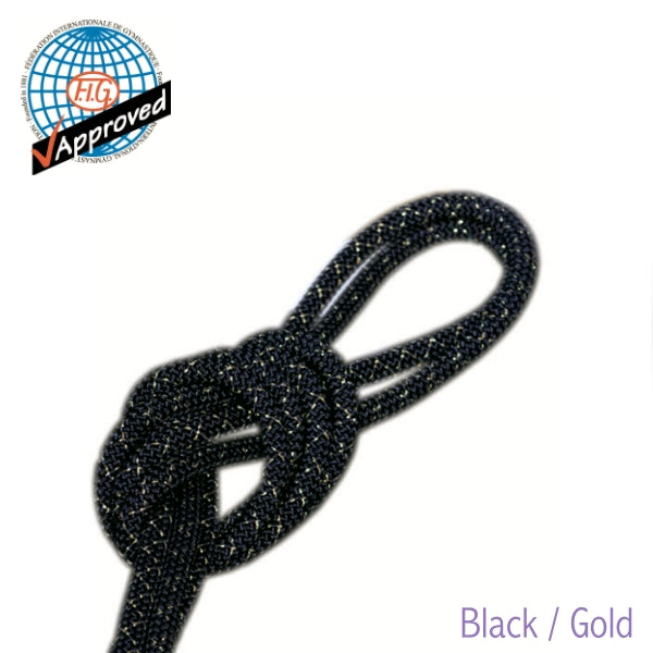 Rhythmic Gymnastics Rope with Gold/Silver Threads
