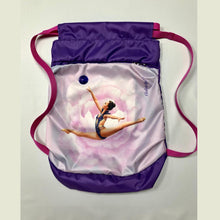 Load image into Gallery viewer, Purple & Red Gymnastics Backpack