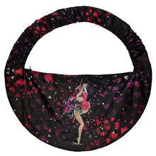 Load image into Gallery viewer, Black Rhythmic gymnastics hoop bag