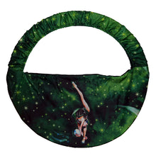 Load image into Gallery viewer, Green rhythmic gymnastics hoop bag