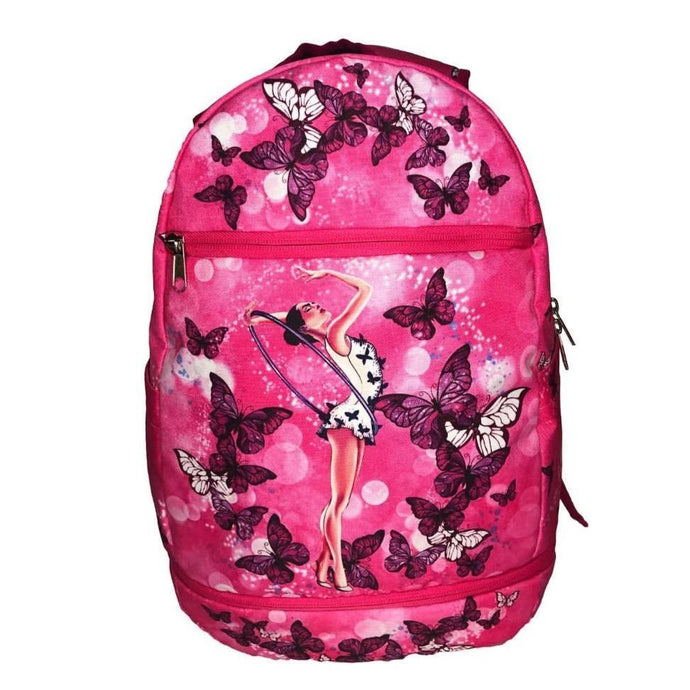 Pink Backpack for Rhythmic Gymnastics - Front