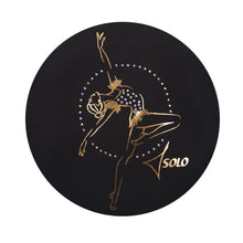 "Load image into Gallery viewer, T-Shirt ""Golden gymnast with hoop"""
