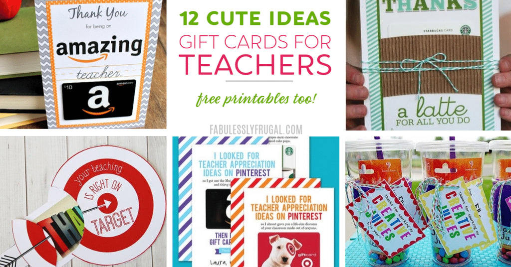 Discover the best gift cards for teachers along with free printable gift card holders to make an easy, thoughtful, and creative gift!