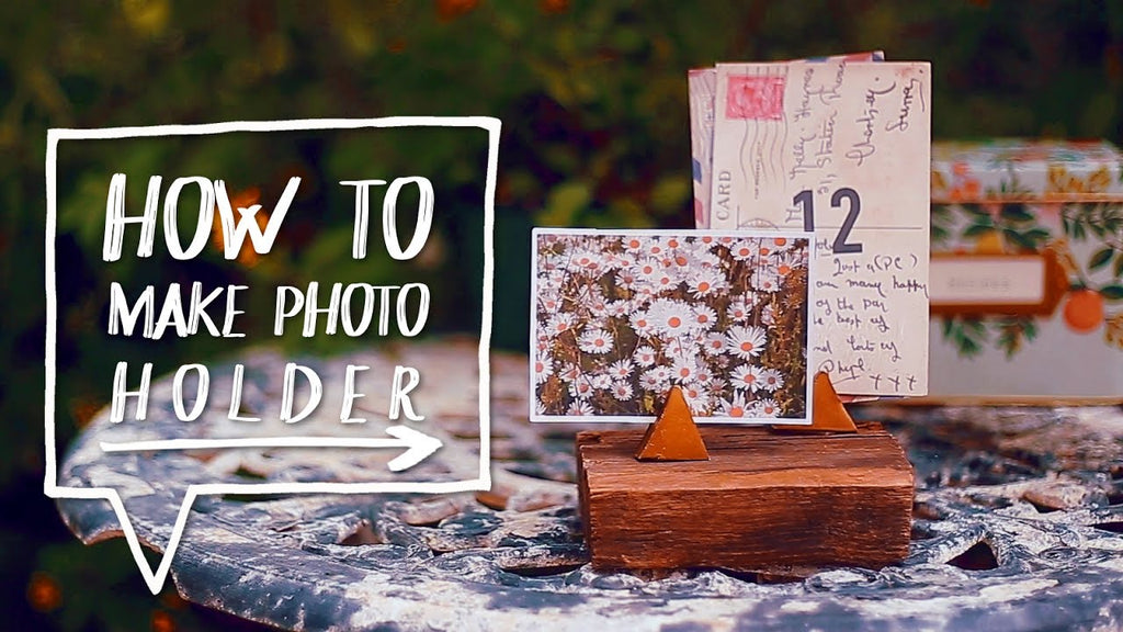 In this DIY Desk & Home Office Decor Tutorial I show you how to decorate your room or desk with a DIY Photo Holder Stand