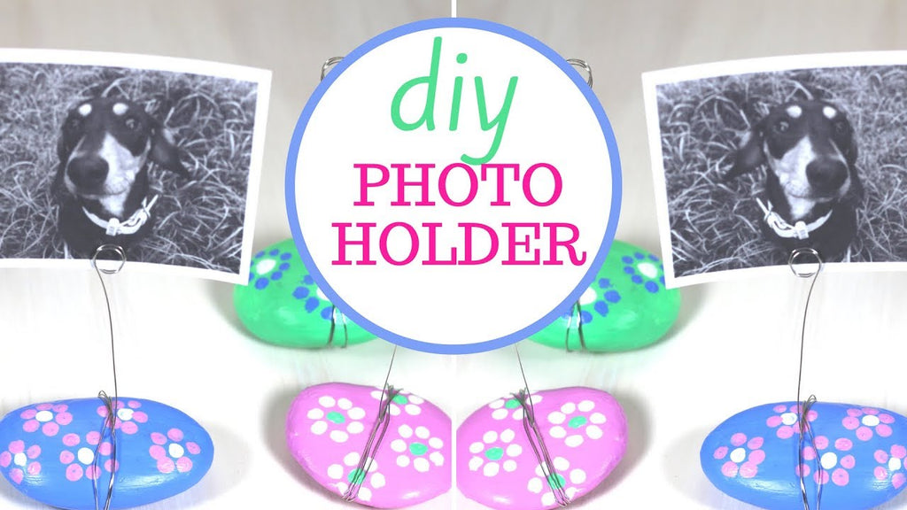 How to Make this Cute Rock Photo Holder | Easy Gift Idea Make this cute Rock Photo Holder