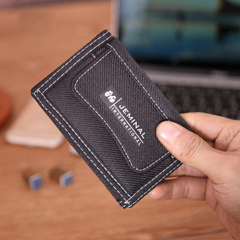 1 pcs Casual Men Canvas Shor Wallets With Coin Zipper Shor Purse For Credi Card Boy Studen 3 Fold Purse Carteira for Men