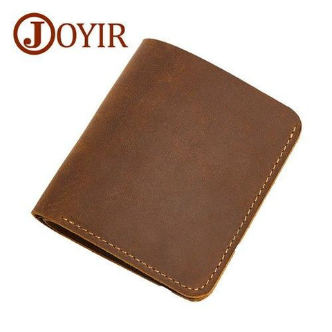 100% Genuine Leather Men Wallets Leather Brand Men Shor Walle Vintage Coin Purse Male Walle Men Small Wallets Card Holder