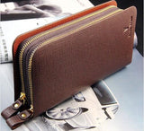 11 Colors Imported High Quality Genuine Leather Male Brand Clutch Large Capacity Clutch Bag Men Zipper Walle Wholesale