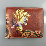 12 Colors Anime Manga Dragon Ball Z Unisex Shor PU Walle Zipper Money Coin Card Holder Girl Boys Birthday Gifts