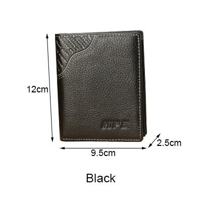2 Color European style fashion men Wallets hasp men's Purse shor Design males Walle Genuine Leather Card Holder