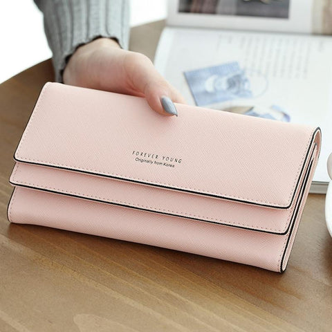 2017 Brand Designer Leather Phone Wallets Women Hasp Long Coin Purses Girls Money Bags Credi Card Holders Clutch Wallets Female