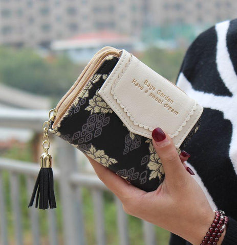 2017 Designer Famous Brand Luxury Women Wallet Purse Female Small walet cuzdan perse Portomonee portfolio lady short carteras